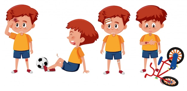 Zestaw postaci chłopca