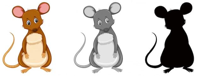Zestaw postaci szczura