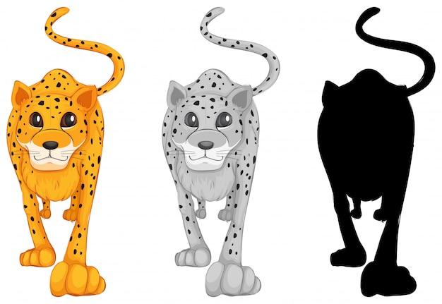 Zestaw postaci tygrysa