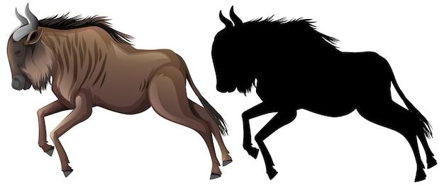 Zestaw postaci z kreskówek wildebeest