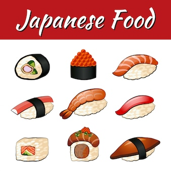 Zestaw potraw japońskich, sushi