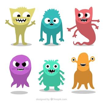 Zestaw potworów w sześciu kolorach