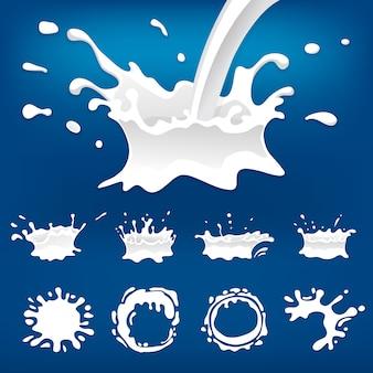 Zestaw powitalny mleka na białym tle