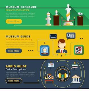 Zestaw poziome transparentu muzeum