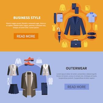 Zestaw poziomy baner odzież