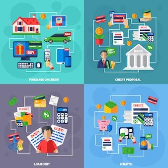 Zestaw pożyczek i długów