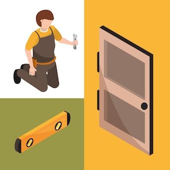 Zestaw pracownika i narzędzi