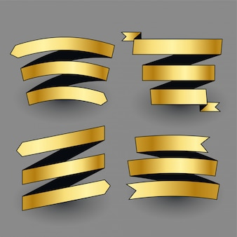 Zestaw premium lśniące złote wstążki