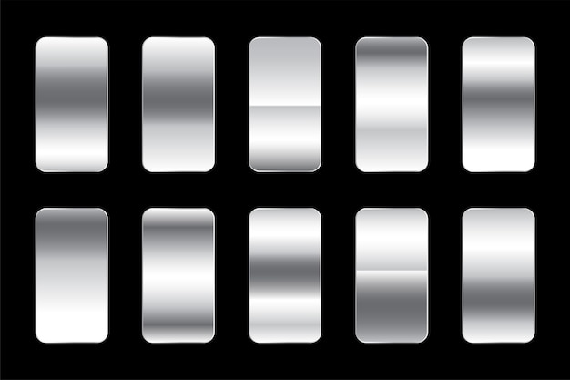 Zestaw premium z metalicznym srebrnym gradientem