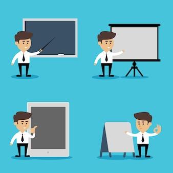 Zestaw prezentacji biznesmen