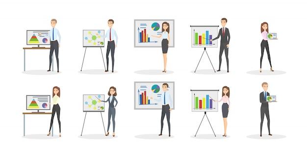 Zestaw prezentacji biznesowych.