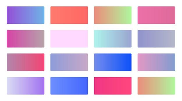 Zestaw próbek miękkich gradientów