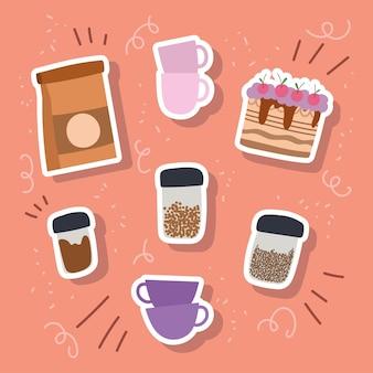 Zestaw produktów do kawy