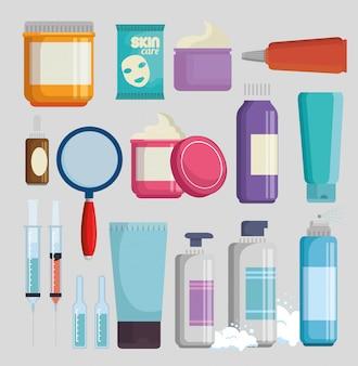 Zestaw produktów do kremów do twarzy