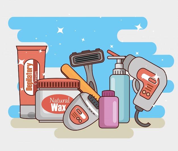 Zestaw produktów do usuwania włosów
