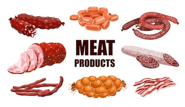 Zestaw produktów mięsnych
