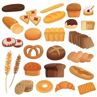 Zestaw produktów piekarniczych
