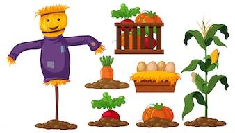 Zestaw produktów rolnych