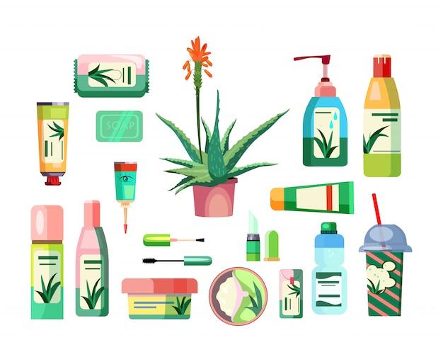 Zestaw produktów z aloesu