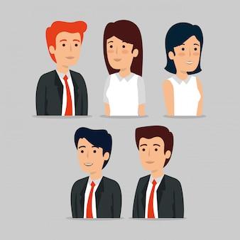 Zestaw profesjonalnych biznesmenów