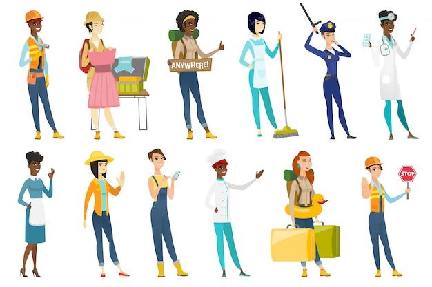 Zestaw profesjonalnych kobiet