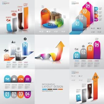 Zestaw projekt graficzny tło informacji