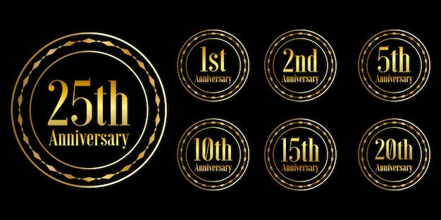 Zestaw projekt obchody złotej rocznicy