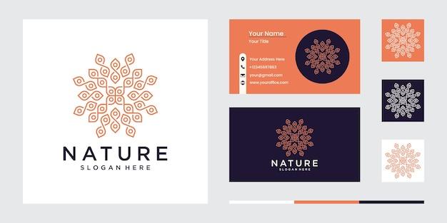 Zestaw projektowania logo kwiat natury