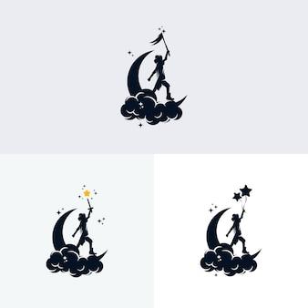 Zestaw projektowania logo marzeń dla dzieci