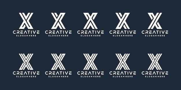 Zestaw projektu litery x logo