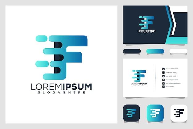 Zestaw projektu logo litery f