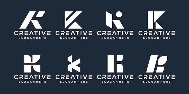 Zestaw projektu logo litery k