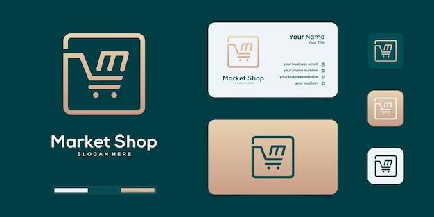 Zestaw projektu logo szablon wektor zakupy