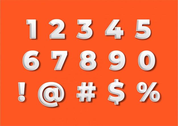 Zestaw promocyjny dekoracji numer numeru