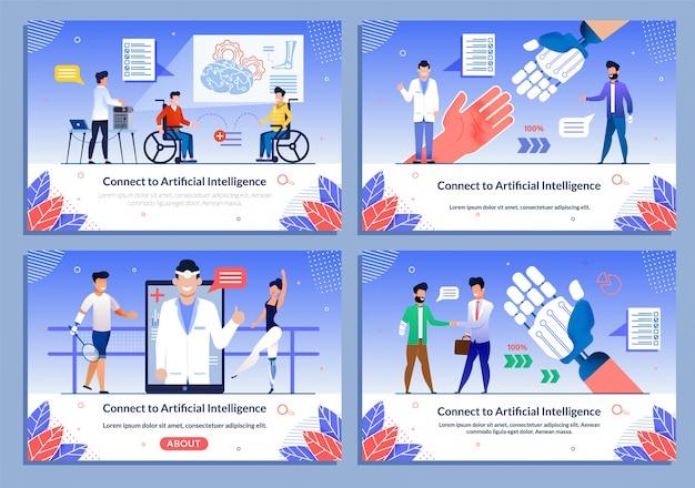 Zestaw protez bionic dla niepełnosprawnych szablonu