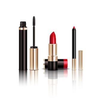 Zestaw przedmiotów do makijażu