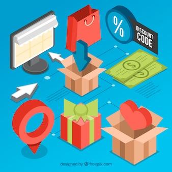 Zestaw przedmiotów izometrycznych do zakupu online