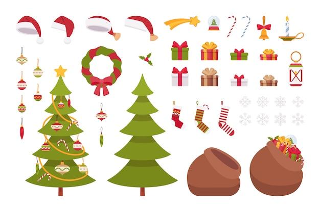 Zestaw przedmiotów świątecznych