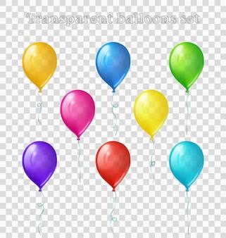 Zestaw przezroczystych balonów