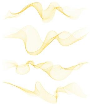 Zestaw przezroczystych miękkich linii na białym tle.