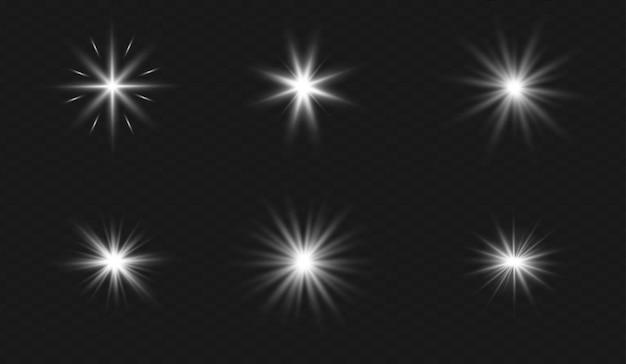 Zestaw przezroczystych soczewek specjalnych z efektem światła słonecznego