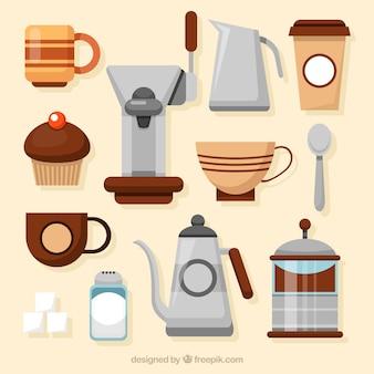 Zestaw przyborów kawiarnia