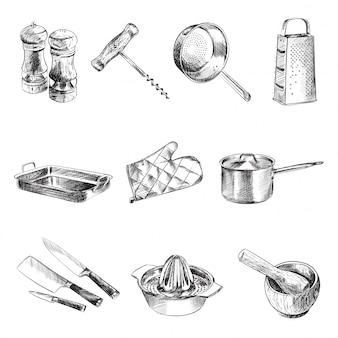 Zestaw przyborów kuchennych