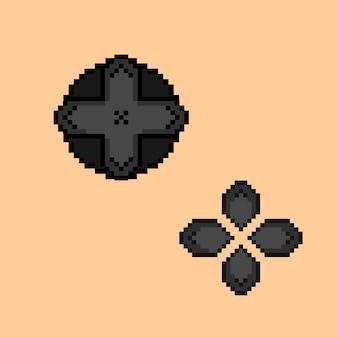 Zestaw przycisków gry w stylu pixel art