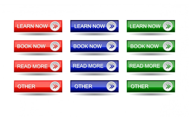Zestaw przycisków strony internetowej