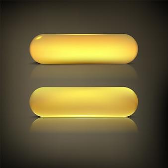 Zestaw przycisków w kolorze złotego połysku