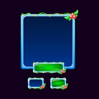 Zestaw przycisku wyskakującego przycisku gui ice christmas board