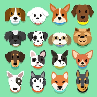 Zestaw psów kreskówek
