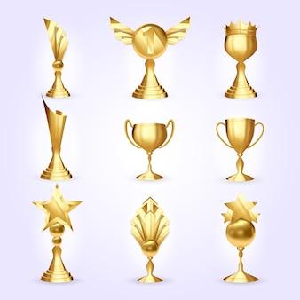 Zestaw pucharów trofeum