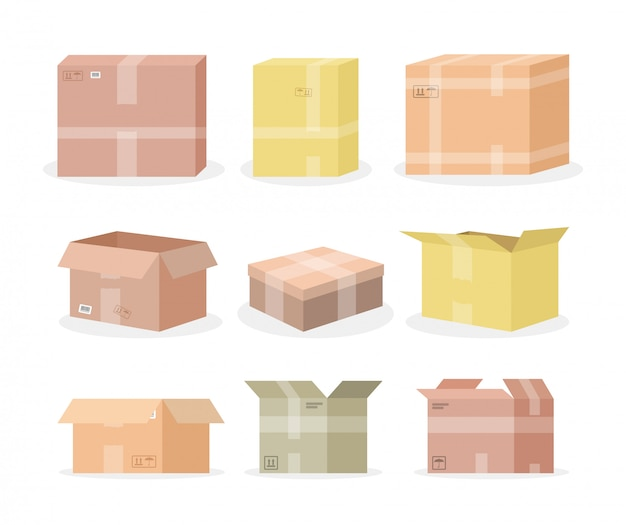 Zestaw pudeł kartonowych